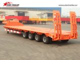 Semitrailer de Lowbed do reboque da plataforma do Gooseneck 3axles baixo