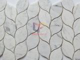 Polished листья стороны любят плитка мозаики Carrara белая мраморный (CFS1183)