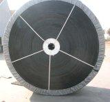 Nastro trasportatore di gomma nero di nylon del PE Cc56 di Nn della sabbia della miniera del tessuto di pietra del cemento
