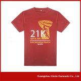 Tshirt vermelho personalizado de Jersey da impressão do ajuste seco (R61)