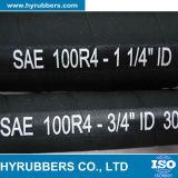 Boyau d'aspiration et de débit de pétrole de barre de SAE100 R4 10