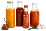 واضحة تشويش زجاجة/تشويش مرطبان مع معدن غطاء /Sauce زجاجة