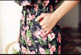 Платье 2017 самых новых повелительниц лета втулки конструкции длинних сладостное вышитое Теннесси миниое