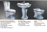 El lujo de cerámica adornó el tocador del Wc con el lavabo de zócalo y el bidé