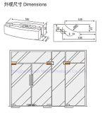 Dimonのステンレス鋼304/アルミ合金のガラスドアクランプ、パッチFitting8mm-12mmガラス、ガラスドア(DM-MJ 501S)のためのパッチの付属品
