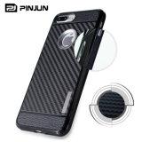 더하기 iPhone 7을%s 탄소 섬유 TPU 전화 덮개 케이스