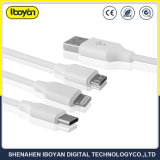 3 en 1 Rayo /Type-C/androide Data Cable cargador cables móviles
