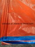 Couverture bleue/orange de camion de bâche de protection de PE