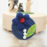 Broches de laine rouges de lame de vert de perle de fleur de filé de Jean de bleu marine