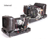 5kVA車輪、ハンドルおよび遠隔開始を用いる携帯用発電機5000ワットのインバーター様式の