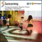 Danza Digital LED portátil pisos azulejos para discoteca parte iluminación Decoración