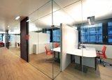 La prestación de valla de vidrio de seguridad, paneles de vidrio templado de la partición de oficina