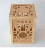 Boîte à thé en bois de style nouveau, boîte en bois à la mode pour thé