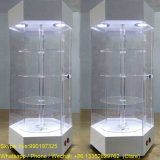 Rotationg Supermarket Acrylic Display Cabinets for Sale