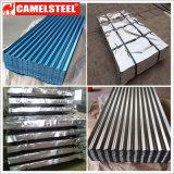 Feuille en acier ondulée de toiture de zinc d'usine de boxe