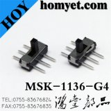 6pin type vertical commutateur de bouton poussoir de contact coulissant de SMD (MSK-1136-G4)