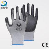 13G Polyester enduit Nitrile Shell avec des gants de travail (N6007)