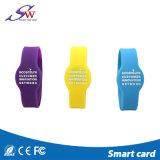 Beau bracelet réinscriptible d'IDENTIFICATION RF de silicones de 13.56MHz NFC