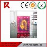 Roadsafe LED Guiding Turn Aluminium Réfléchissant Adhésif personnalisé Sécurité routière Signes de signalisation Symboles