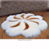 Tapis de soie en laine de mouton à laine longue Tapis de fourrure