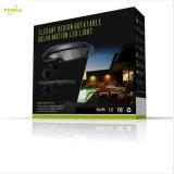 3W太陽電池パネル5W LED 500lumens 80度の回転太陽壁ライト、太陽機密保護ライト、太陽動きセンサーライト