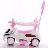 新しいモデルのケイ素は押し棒が付いている子供の電気自動車を動かす