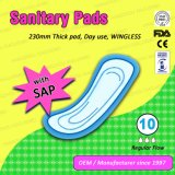 Maxi Dikke Dame Sanitary Pads Without Wings voor het Gebruik van de Dag