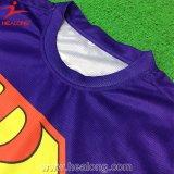 Healong Atacado Custom Quality Cotton Screen Printing Camisa polo para homens de pescoço redondo