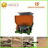 Double défibreur d'arbre pour les pneus de véhicule de rebut coupant et réutilisant des machines