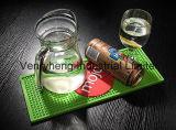 Het hete Verkoop Aangepaste Stootkussen van de Mat van de Onderlegger voor glazen van het Bierviltje van de Mat van de Staaf van de Agent van de Staaf
