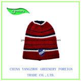 Ярко - зеленый шлем Knit Beanie зимы жаккарда