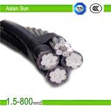 0.6/1KV 10kv 33kv de caída del servicio de paquete de sobrecarga de cable de antena de cable conductor de aluminio