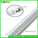 Nuovo indicatore luminoso ultra luminoso del tubo di disegno 140lm/W 160lm/W 18W T8 LED