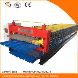 Doppelte Schicht-Farben-Stahlfliese-Rolle, die Maschine bildet