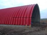 240 Cor de aço Long Span Arch Shape Steel Roof Building Roll formando máquina