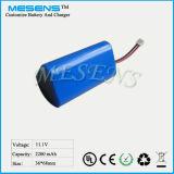 11.1V 2200mAh Lithium-nachladbare Batterie