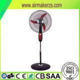18 Zoll-Schwarzer u. weißer/Schwarz-u. rote Farben-Standplatz-Ventilator mit grossem Luft-Fluss