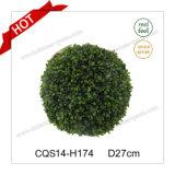 D27cm Parti vert de la décoration de Noël en plastique de brousse d'Artisanat de verre