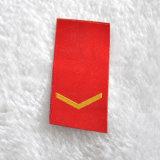 Rojo parche tejido poliéster 100% para las bolsas/Schoolbags/prendas de vestir