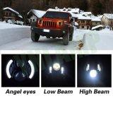 80W 7inchのクリー族の半分の天使の目LED Jkのヘッドライトライト