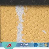 Het elastische Vlotte Leer van Faux van de Huid van de Slang PVC/PU van de Manier Hete voor Handtas