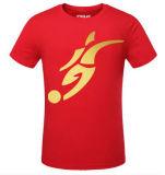 Promotion를 위한 중국 Manufacturer Gold Stamp Print Cotton T Shirt