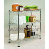 Cremalheira Multi-Functional da prateleira da cozinha do fio de metal do cromo para a HOME