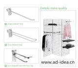Starke Bodenbelag-Fabrik-Preis-Methoden, die Zahnstange gechromierte Stahl-Laminat-Kleid-Bildschirmanzeige-Zahnstange kleiden