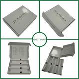Insertar la caja de cartón blanca del rectángulo con la pieza inserta de papel 24 diseños libres de la hora