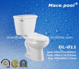 백색 위생 상품 목욕탕 (DL-011)를 위한 화장실 2개 부품