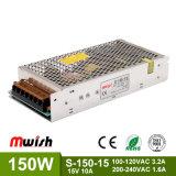 Chaud-Vente du bloc d'alimentation à sortie unique de commutation de SMP 150W DC15V 10A