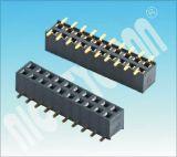 Tipo U pH: 2,54 mm conector fêmea de fileiras duplas SMT Cabeçalho Fêmea