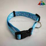Collare di cane di nylon stampato registrabile dell'animale domestico (S, m., L)