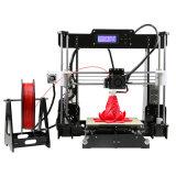 Принтер сбывания A8 3D высокой точности самого низкого цены горячий с свободно нитью и карточкой TF